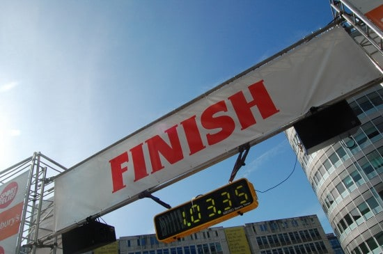 Finish Line of Race