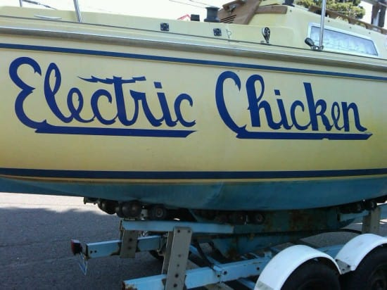 Boat named Electric Chicken
