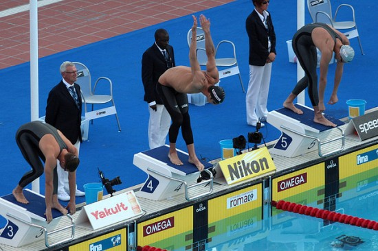 Michael Phelps, Start of 200m Butterfly Semifinals