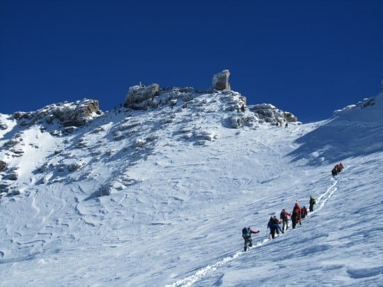 Team Being Led Up Gran Pardiso Mountain