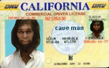 Caveman Drivers License