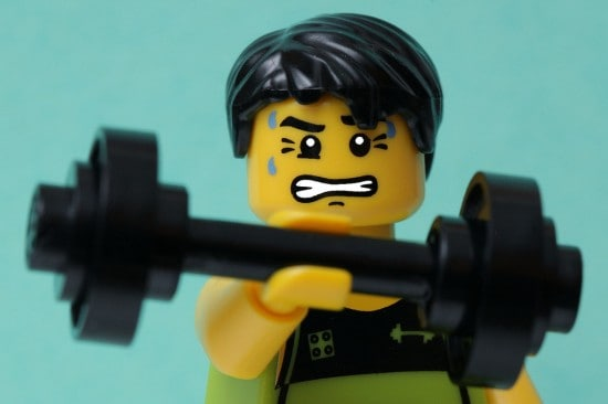 Lego man working out