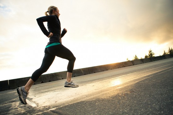 Motivated Woman Running