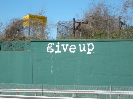 Give Up Wall