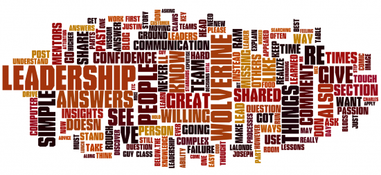 Fun jumble of words used during July