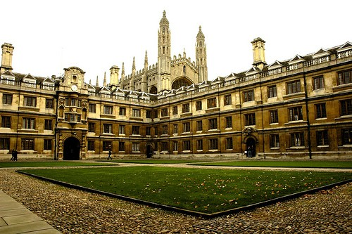 Clare College quad & King's College Chapel, University of Cambridge