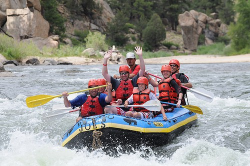 Rafting expedition in Colorado