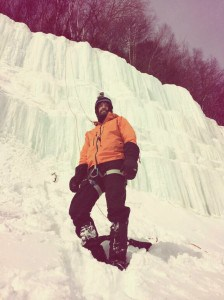 Ice climbing trout bay