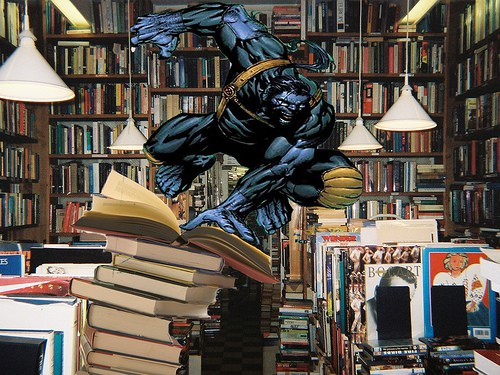 A love of reading and comic books with X-Man Beast
