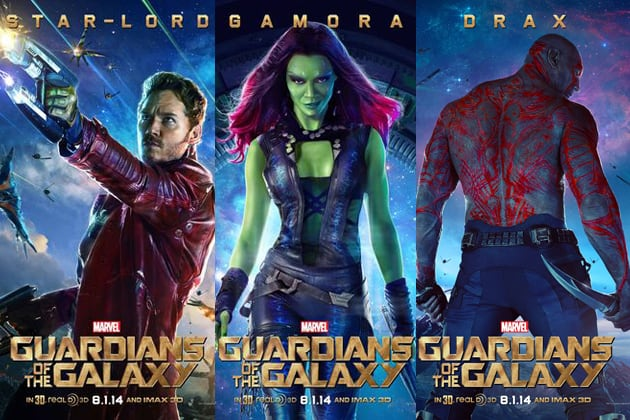 Guardians of the Galaxy poster - Star-Lord - Gamora - Drax ...