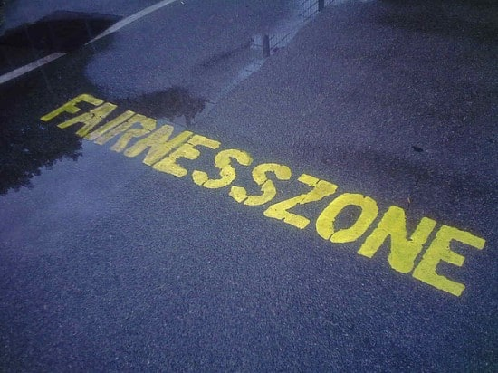 You're entering the fairness zone. Or are you?