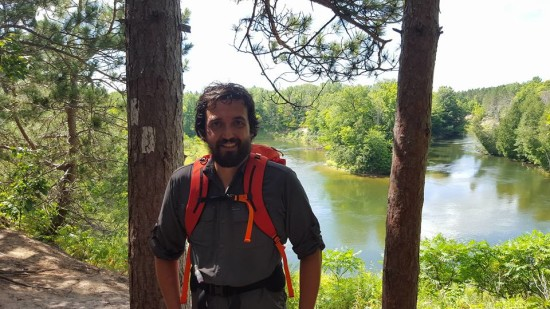 Backpacking the Manistee River trail in Michigan