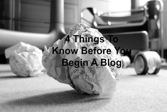 Know this when starting a blog