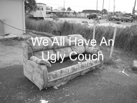 Emotional baggage is an ugly couch