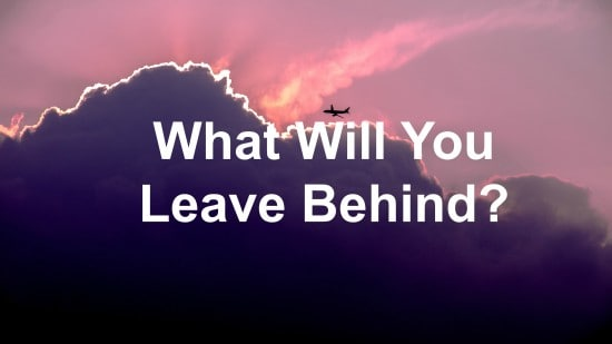 We all leave something behind when we leave leadership
