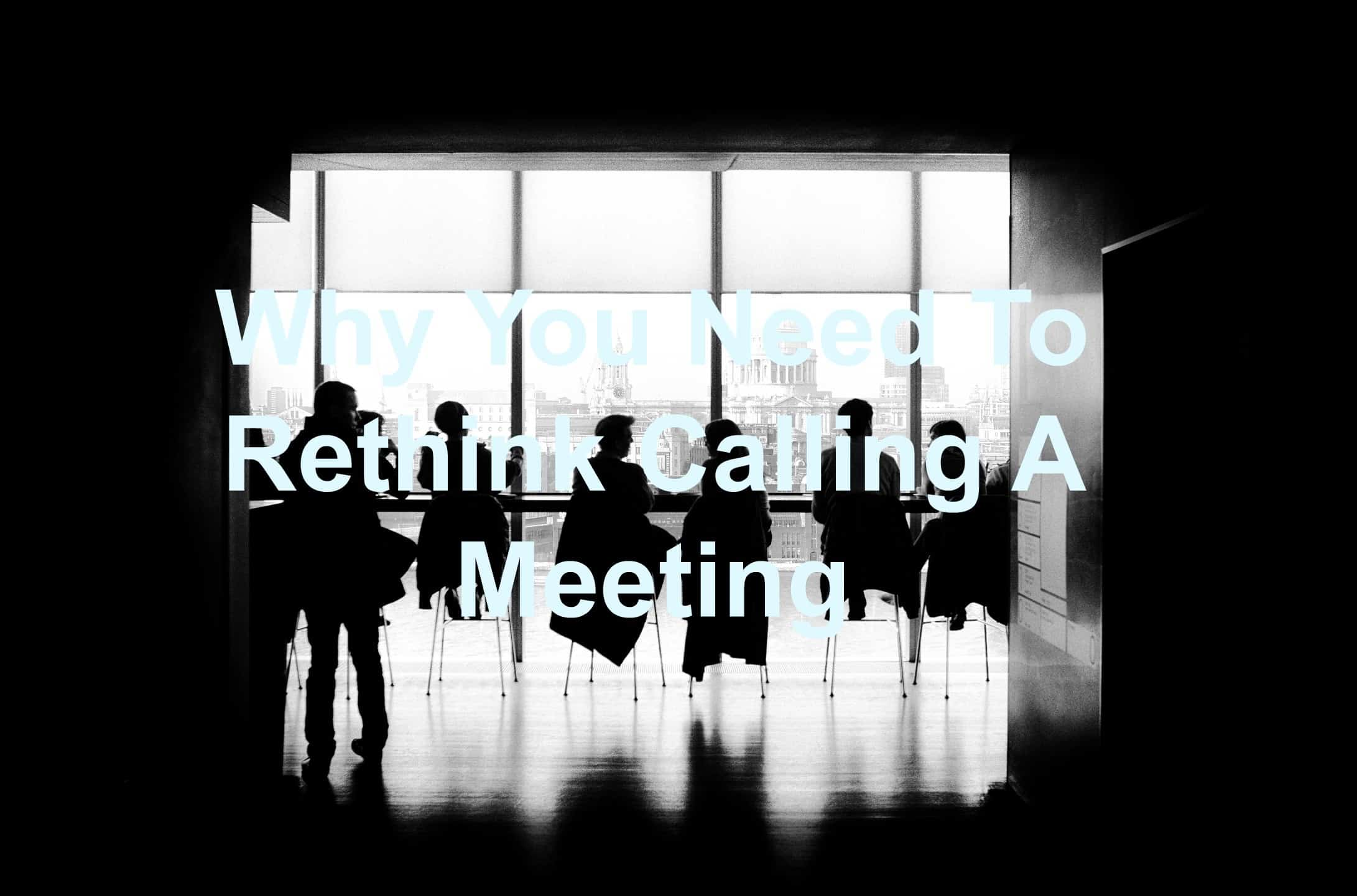 Meetings don't have to be old-school