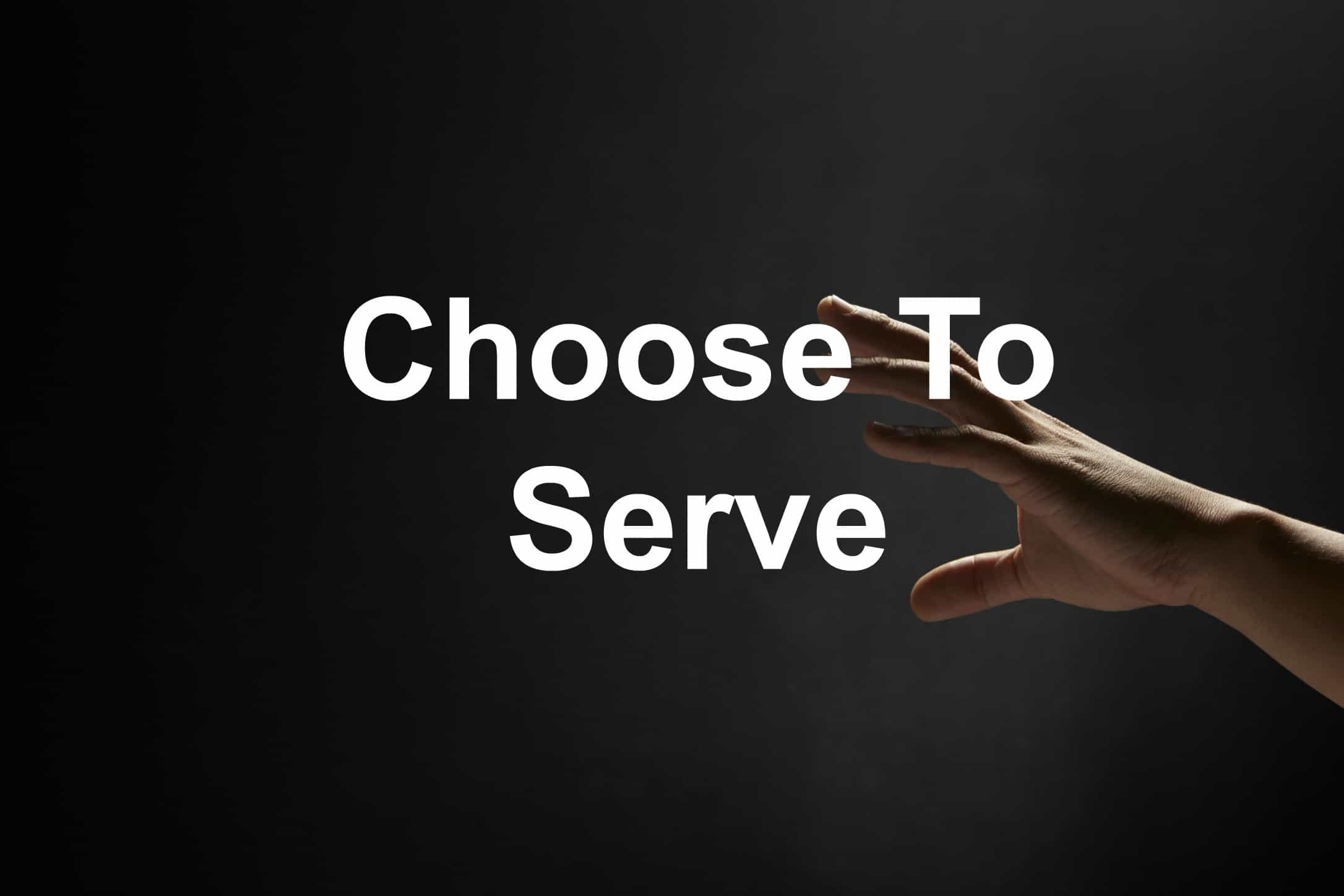 Be a servant leader