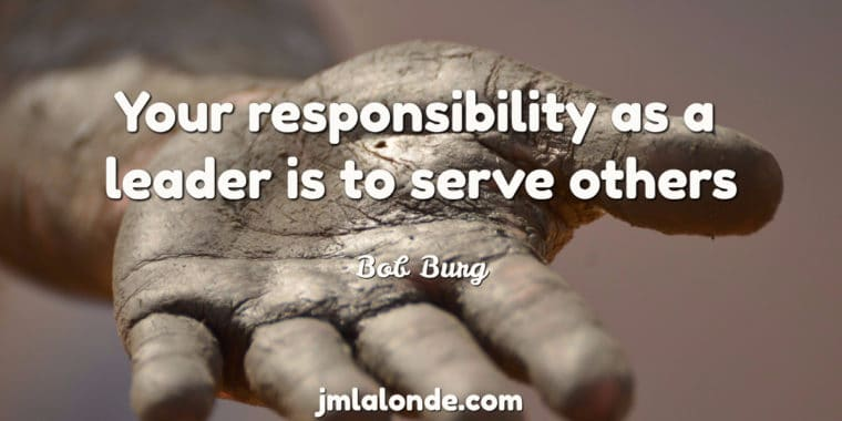 Bob Burg shares on our responsibility as a leader