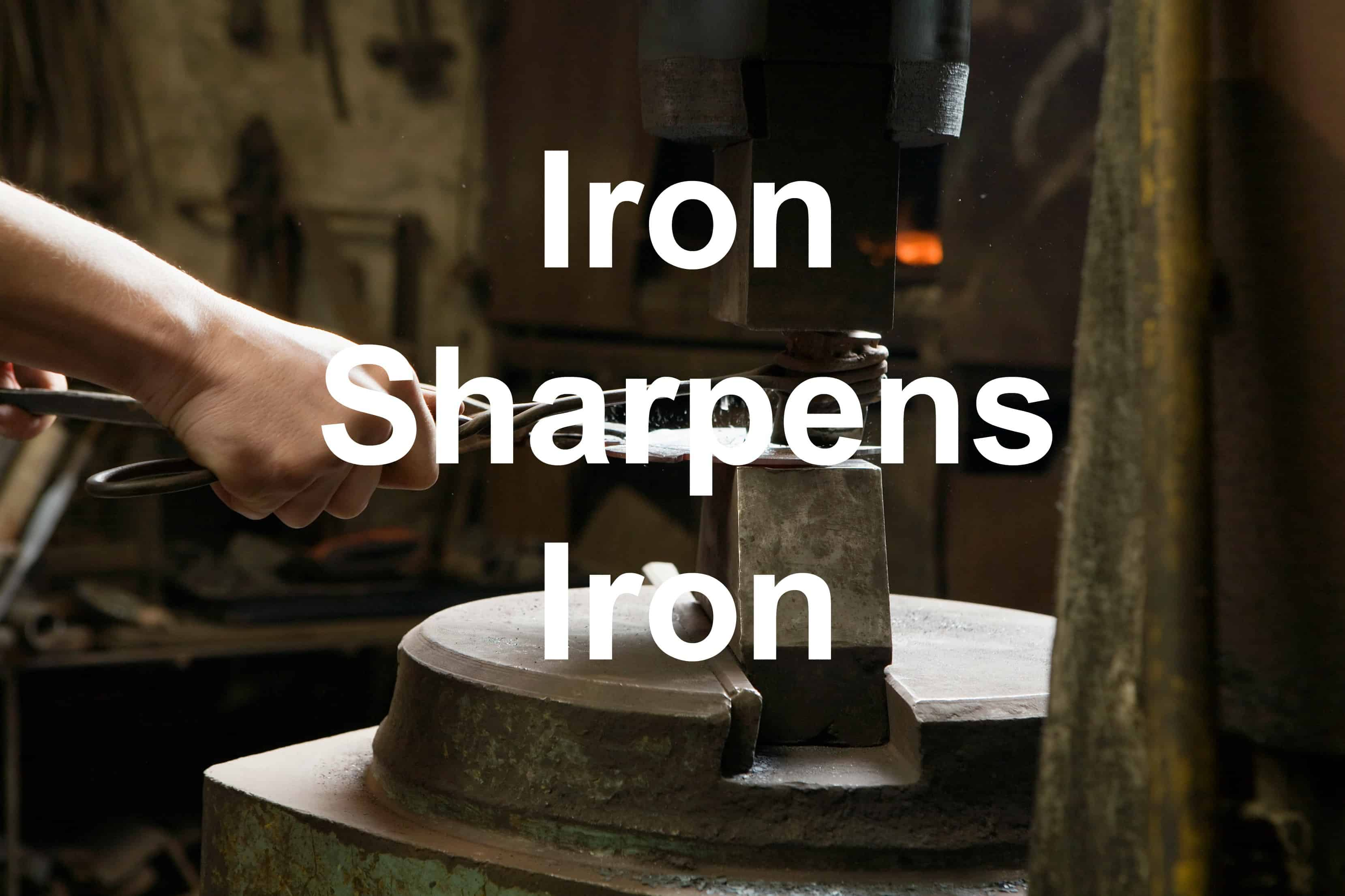 Blacksmith Shaping Metal