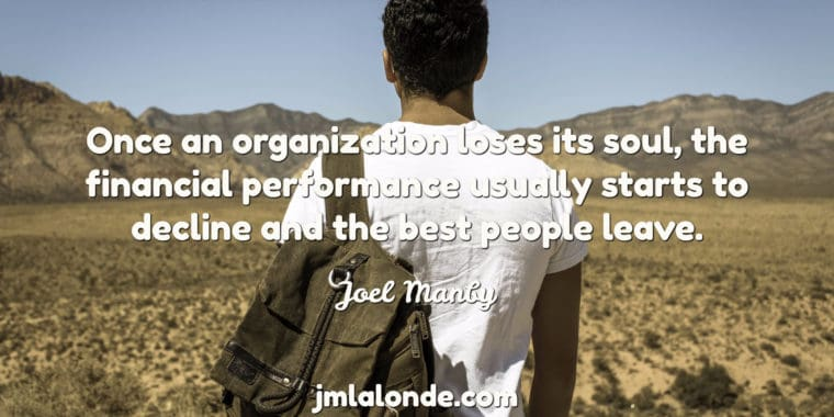 Joel Manby on why people leave organizations