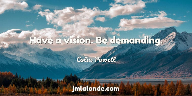Vision is imporant