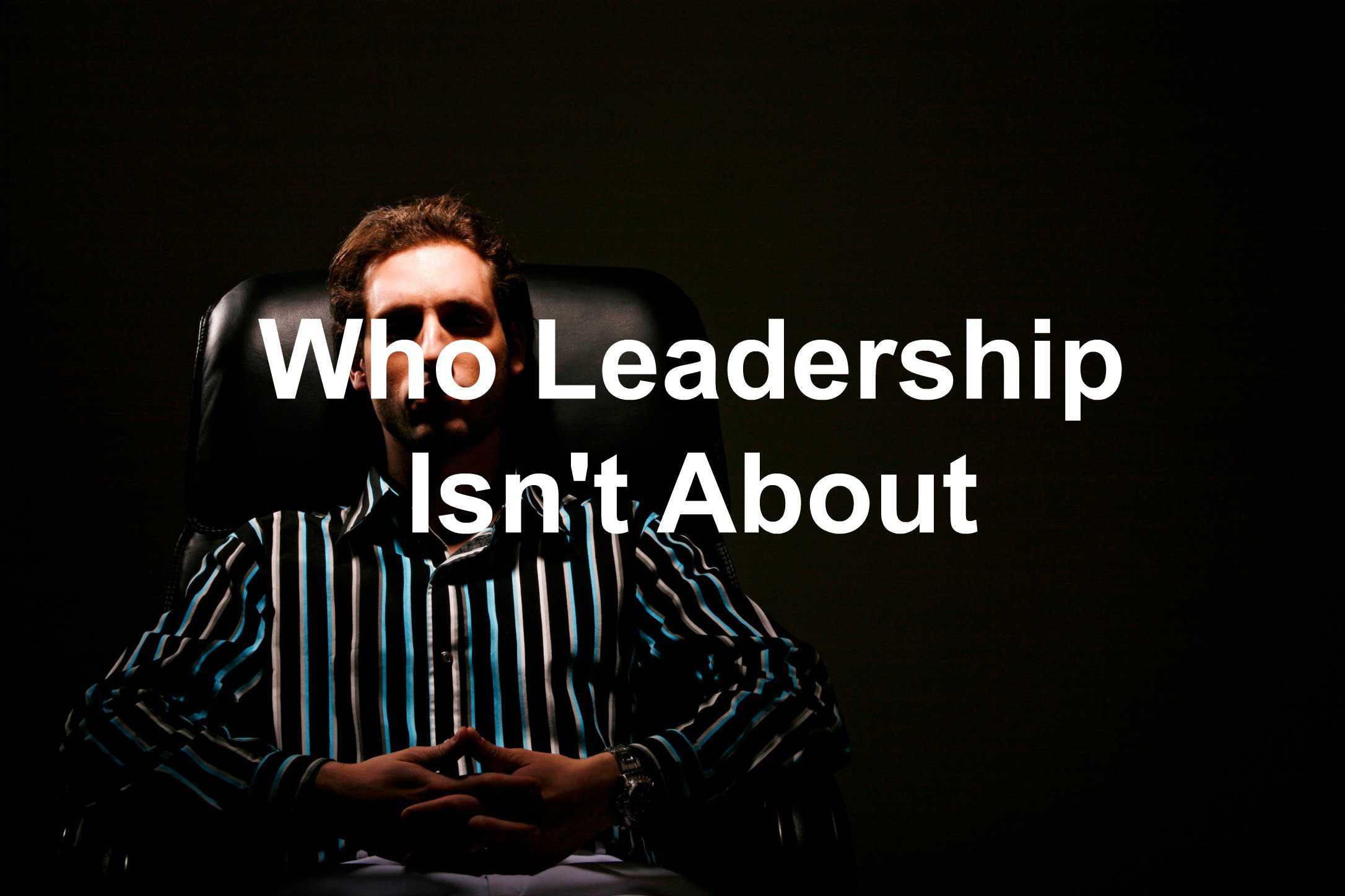 Leadership is about others