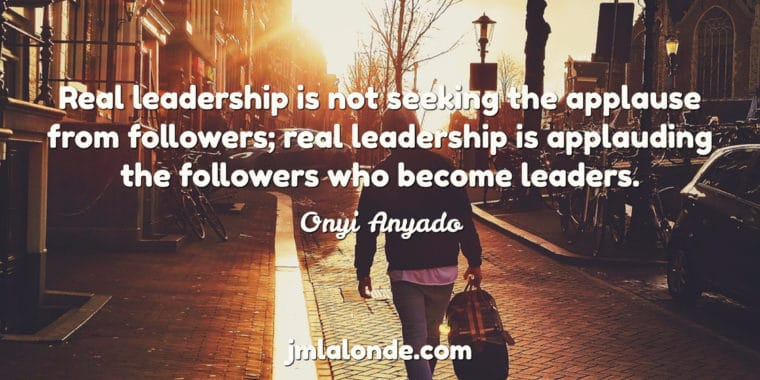 Real leadership is equipping new leaders