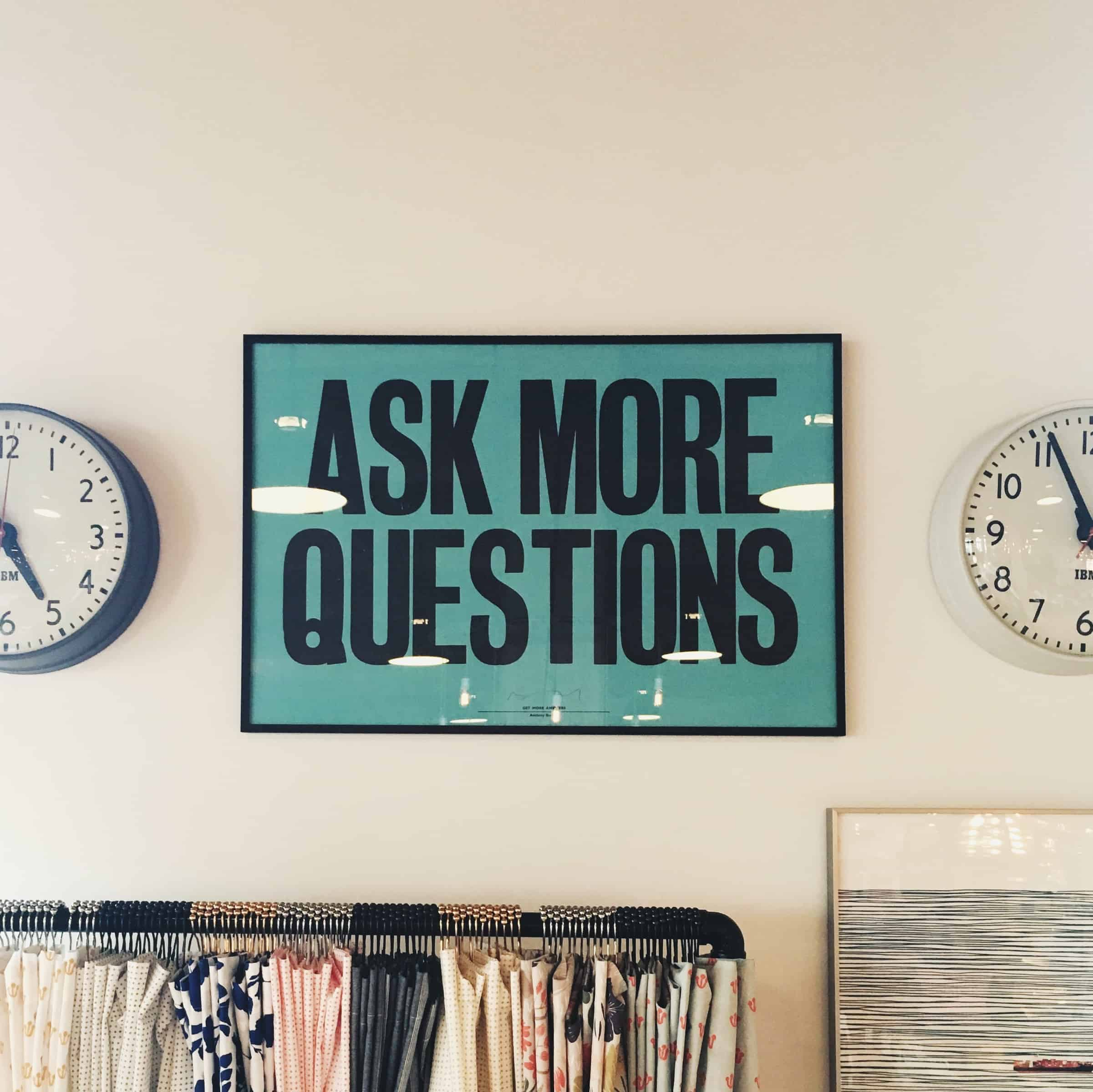 Great leaders ask question