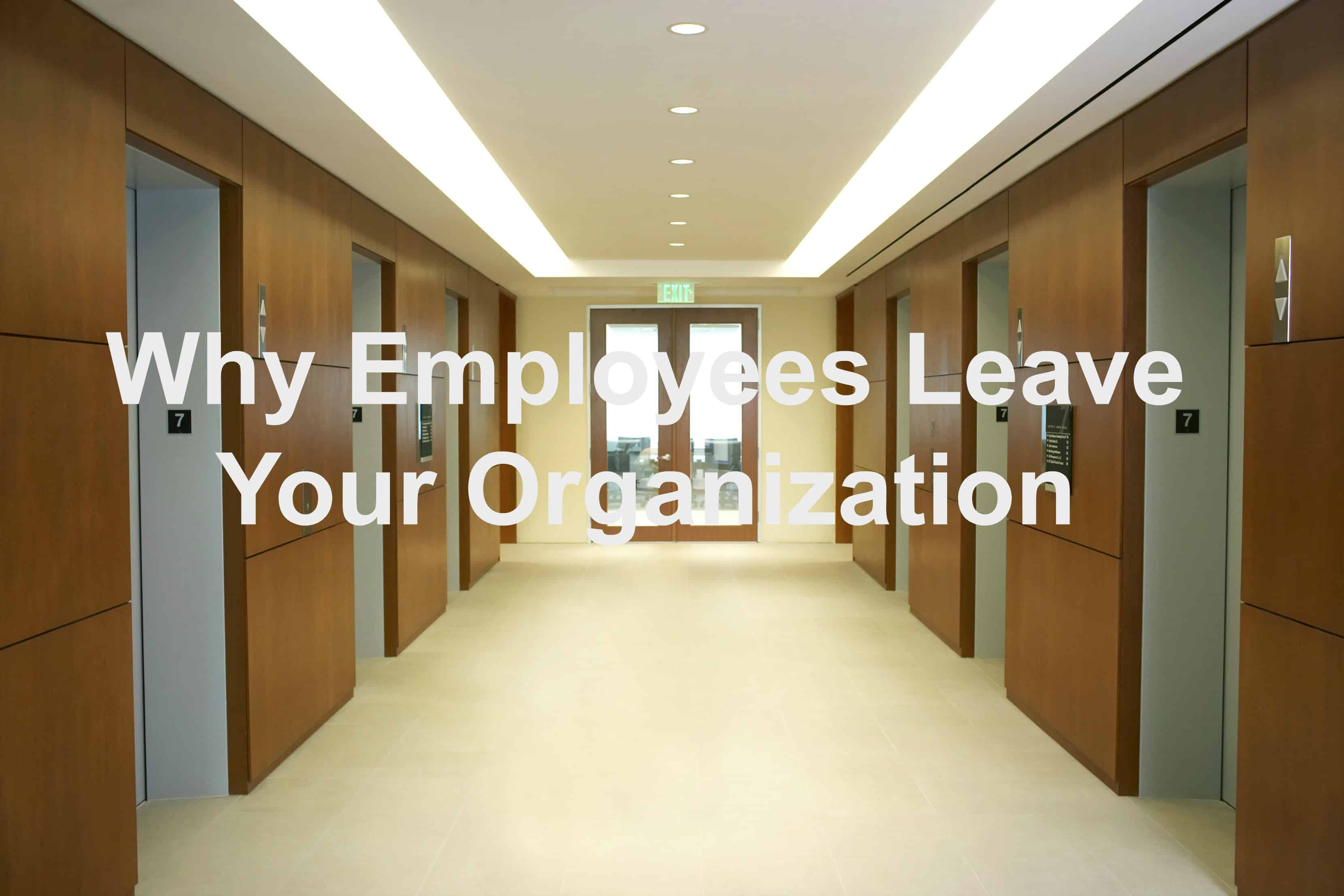Employees leave for varying reasons