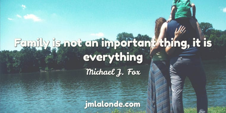 michael j fox quote on family is everything