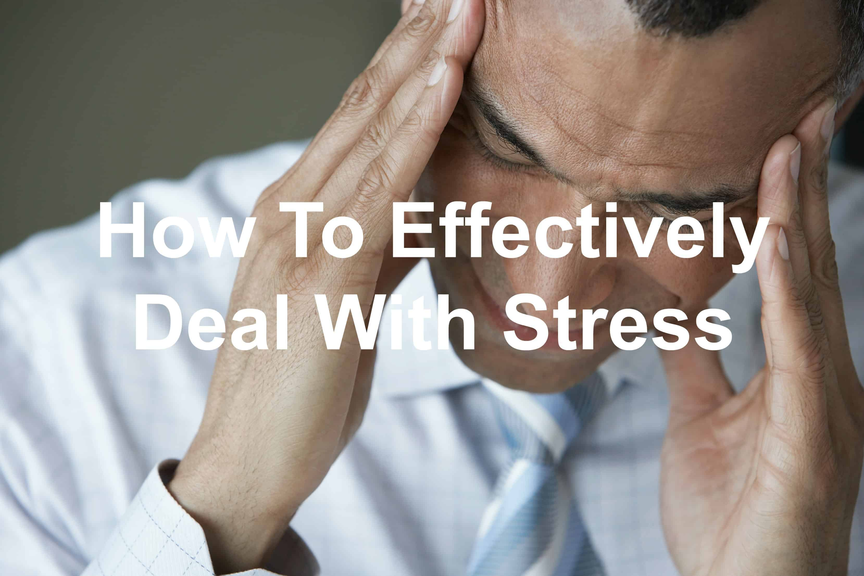 Stress can be overwhelming, deal with it