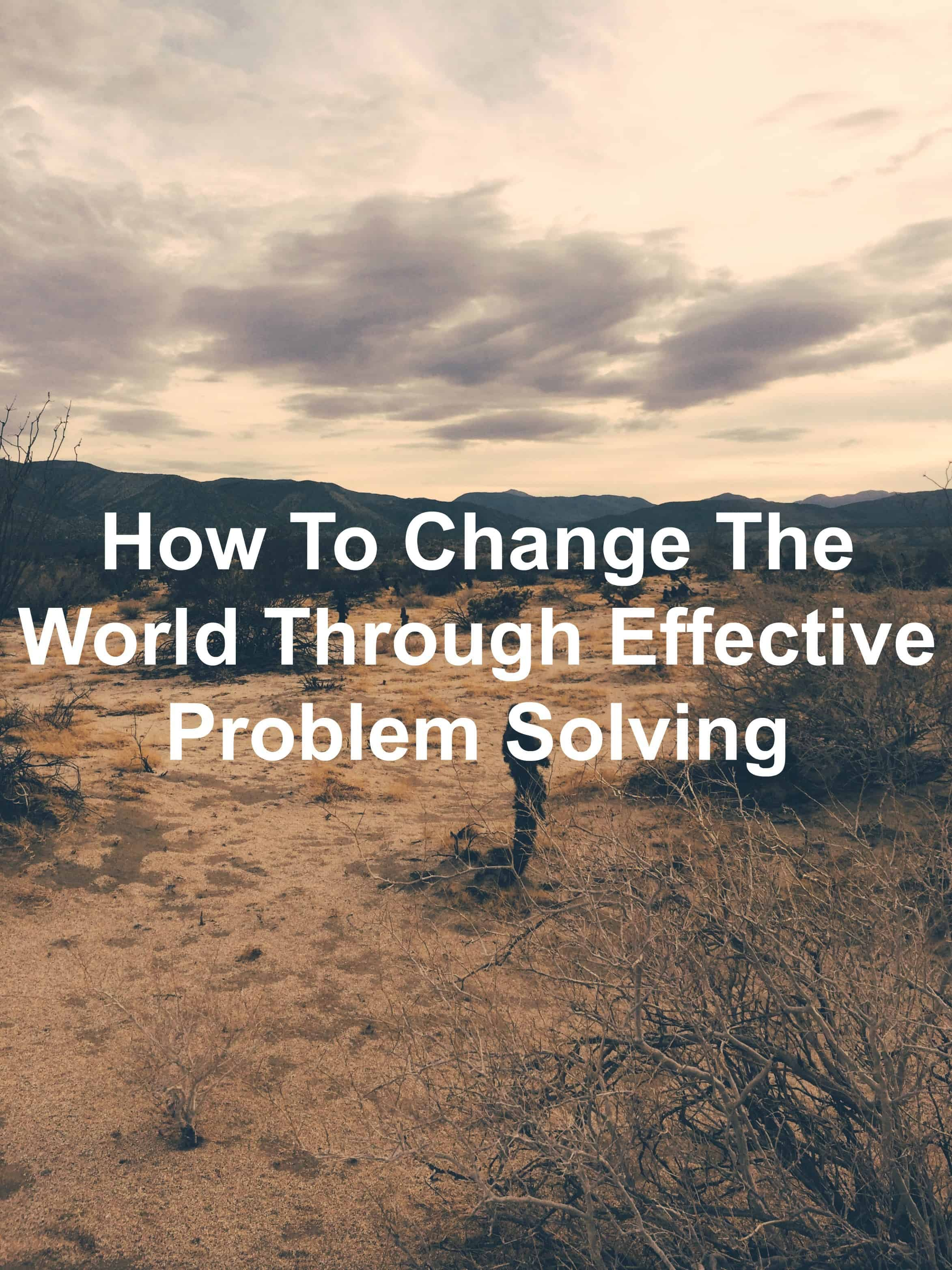 4 steps to solve any problem