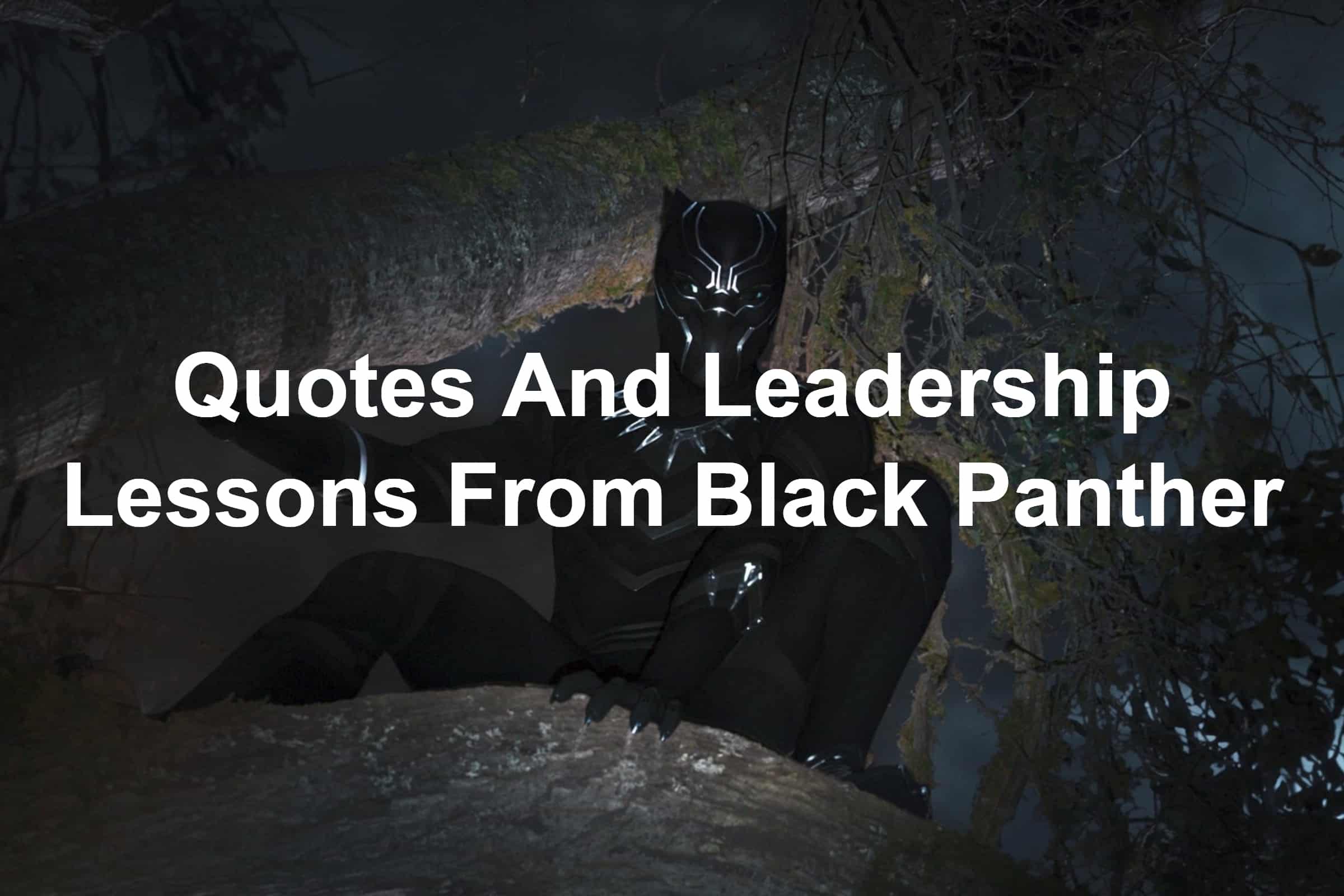 Black Panther Quotes And Leadership lessons