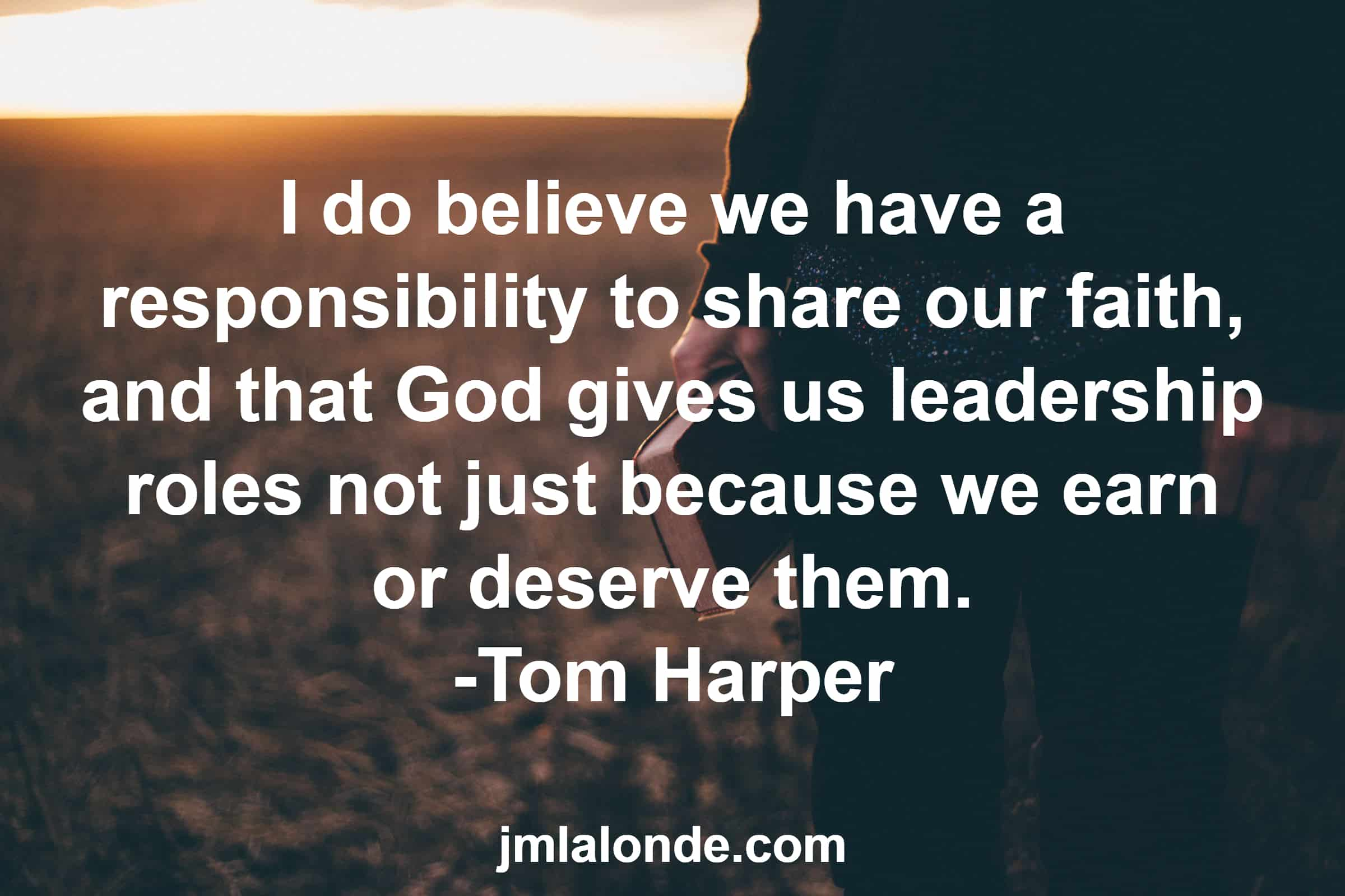 Learn how to share your faith in the workplace with Tom Harper