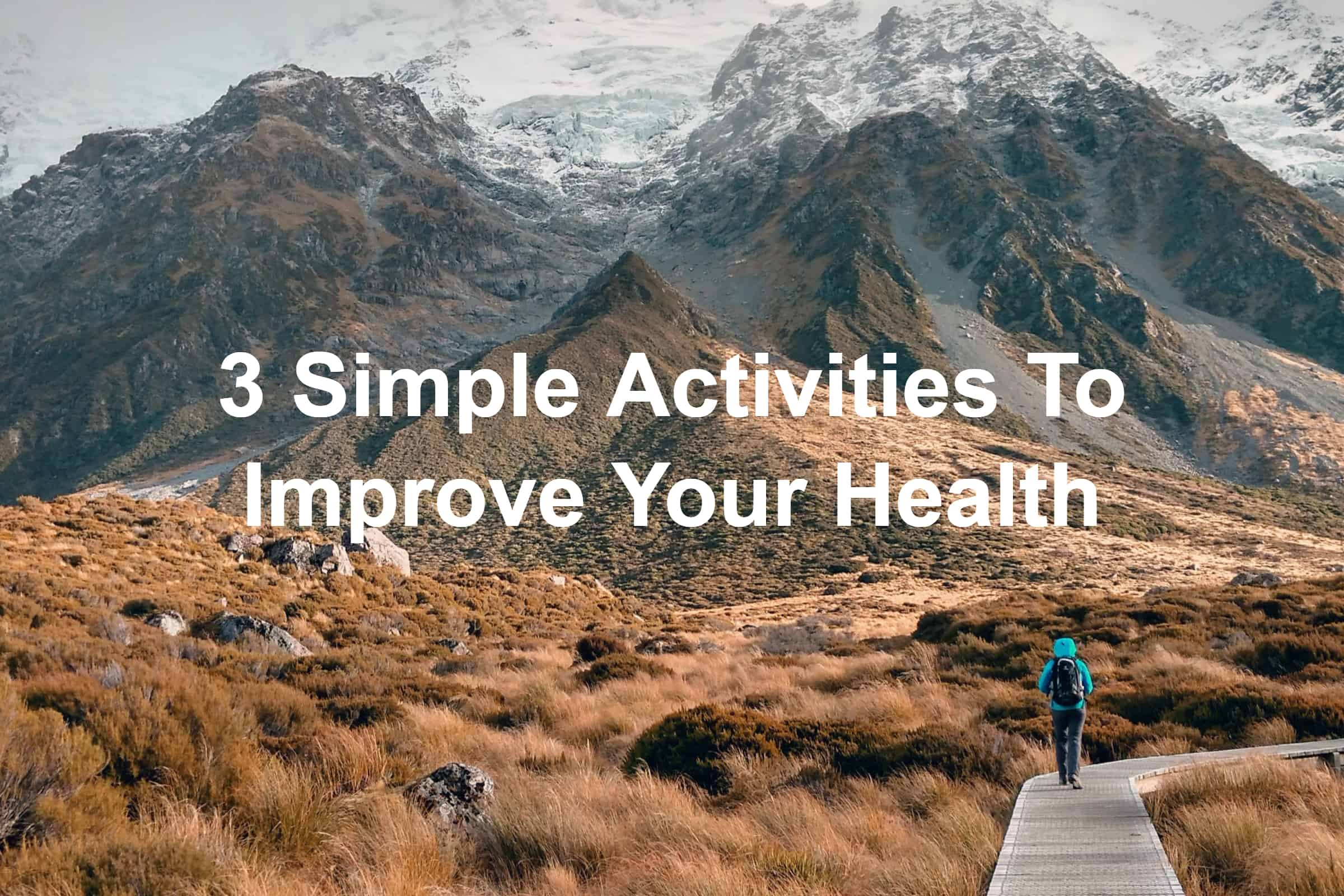 Man walking trails and getting healthy