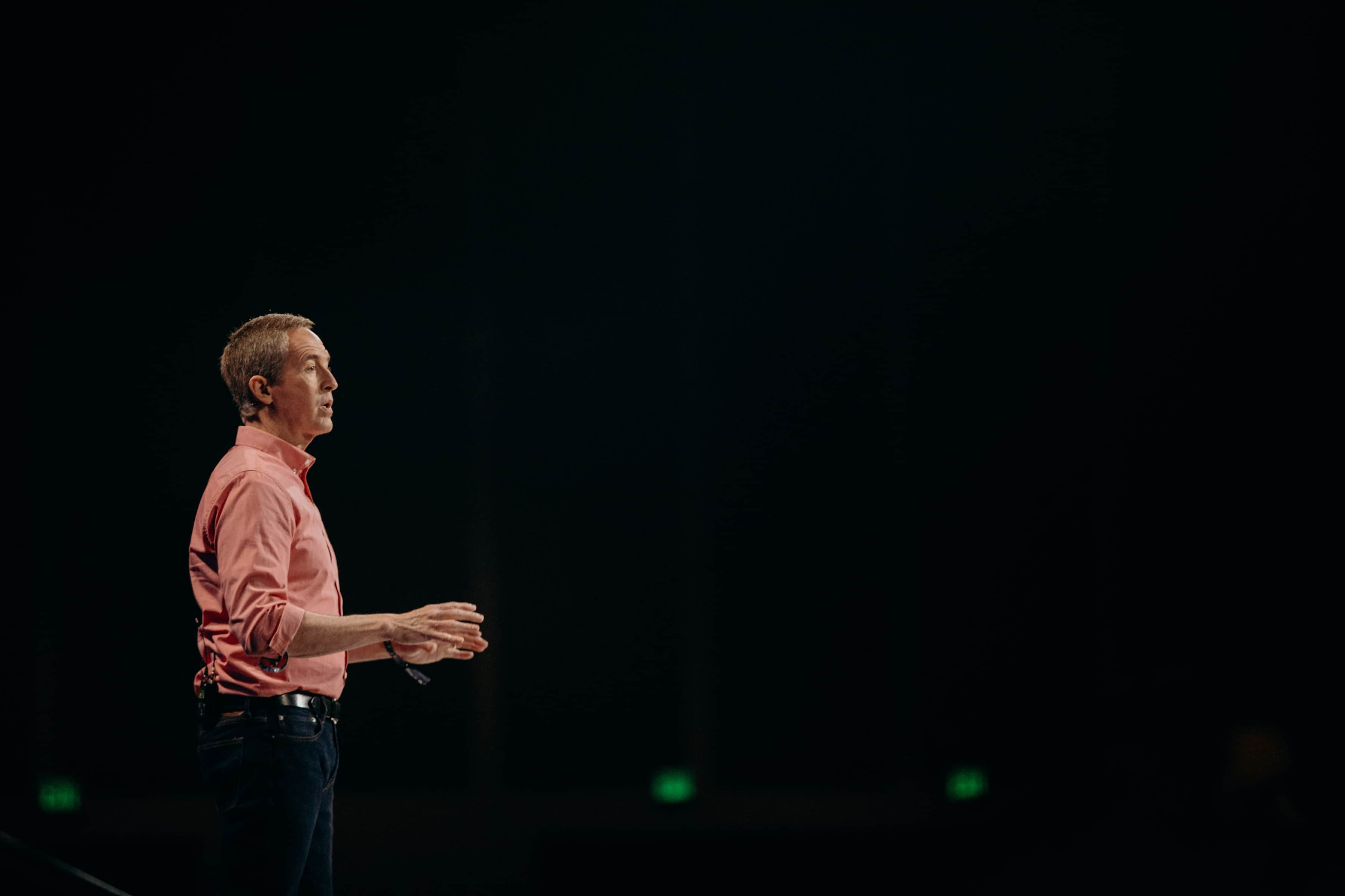 Andy Stanley speaking at Catalyst West 2018