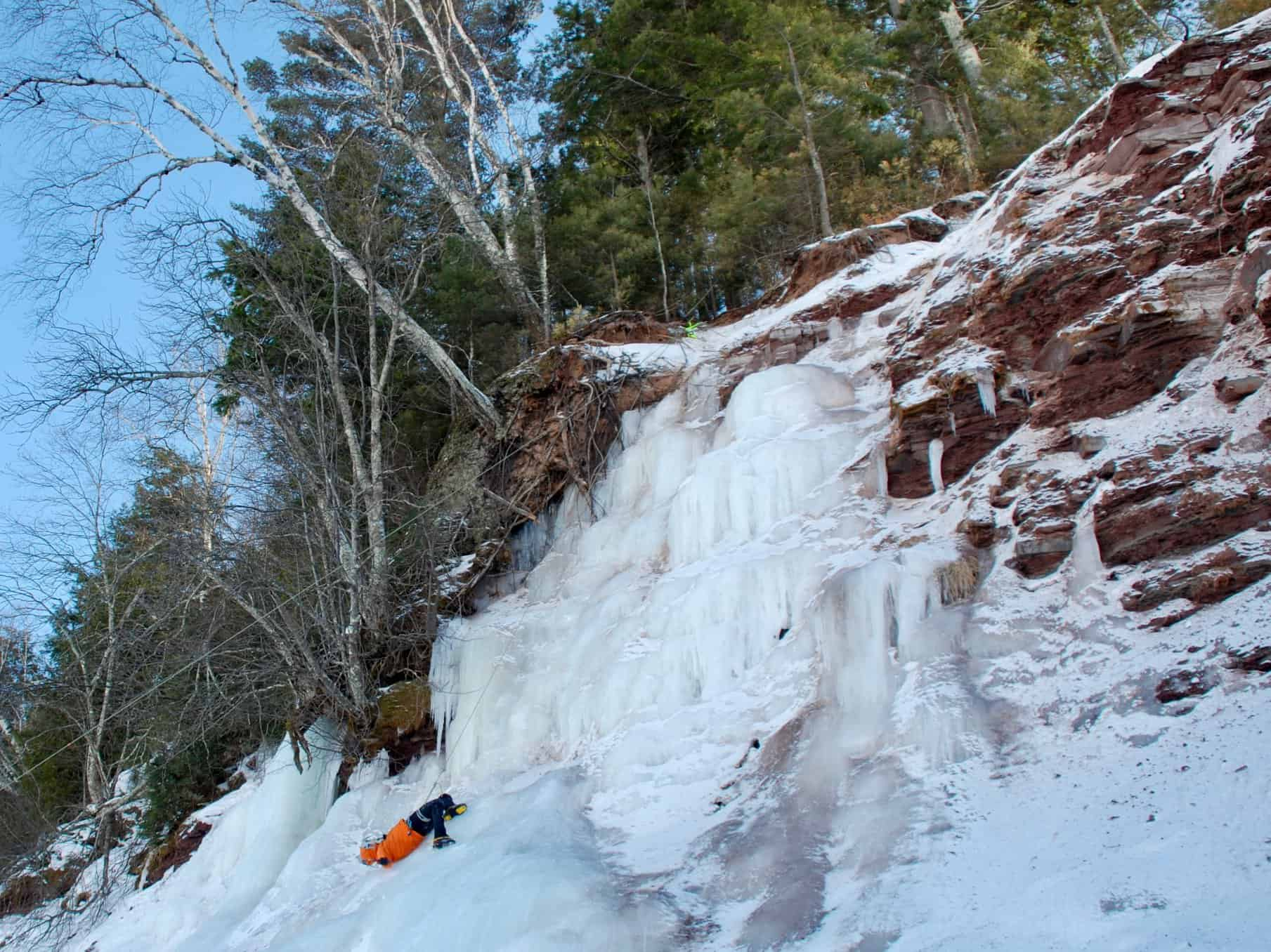 Inexperience can beat experience - Joseph Lalonde falling off of an ice climb