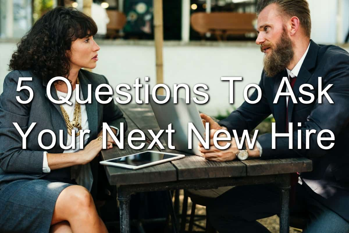 woman and man interviewing