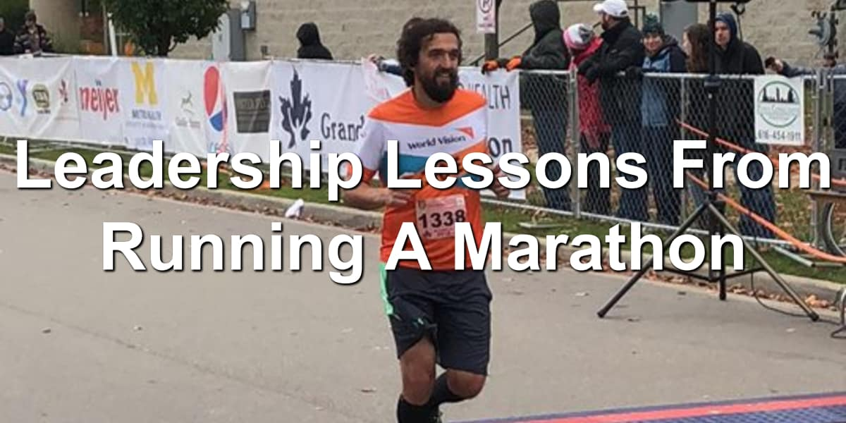 What running a marathon can teach you about leadership