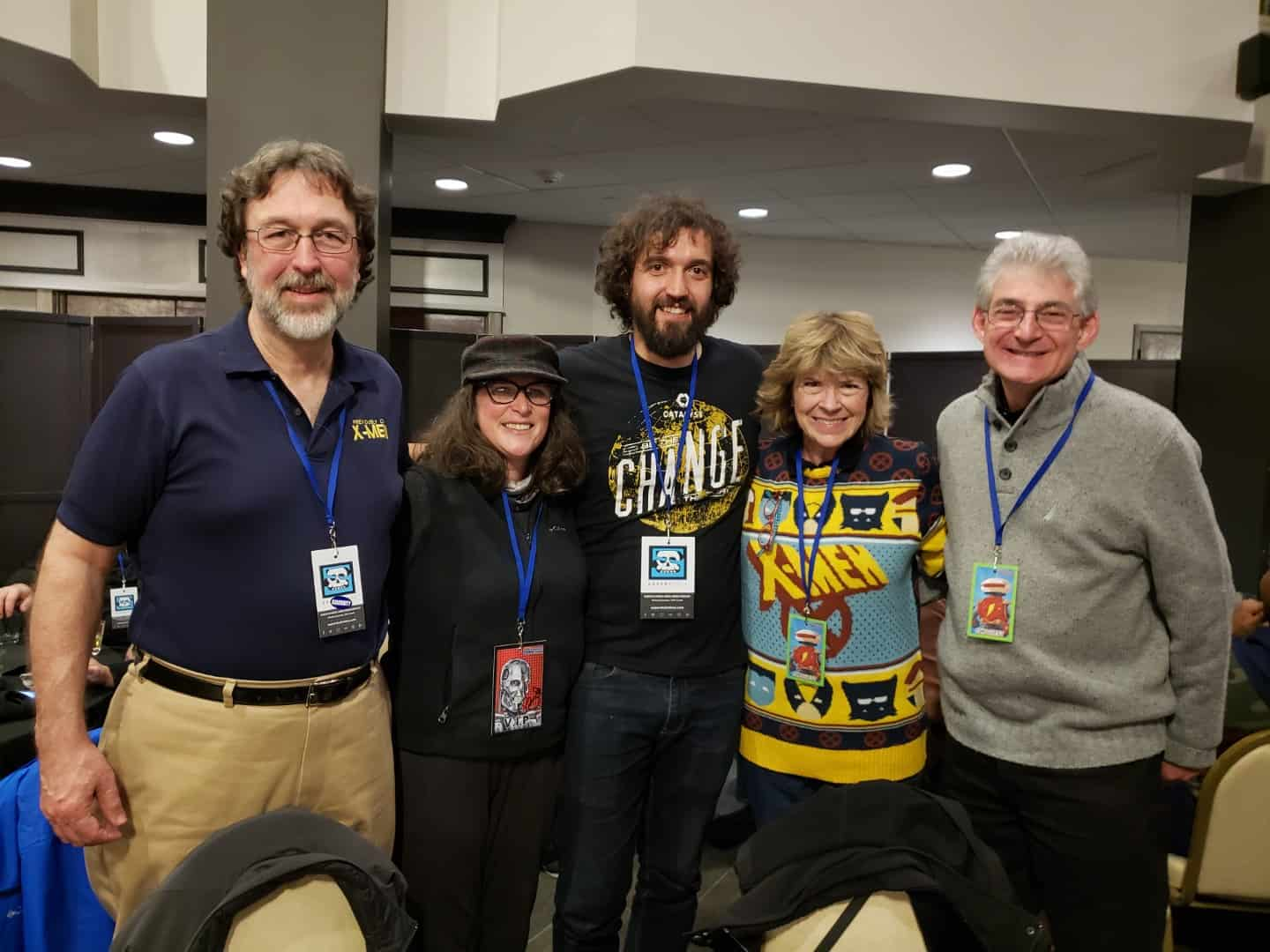 Spending time at the Grand Rapids Comic-Con VIP party with X-Men: The Animated Series writers