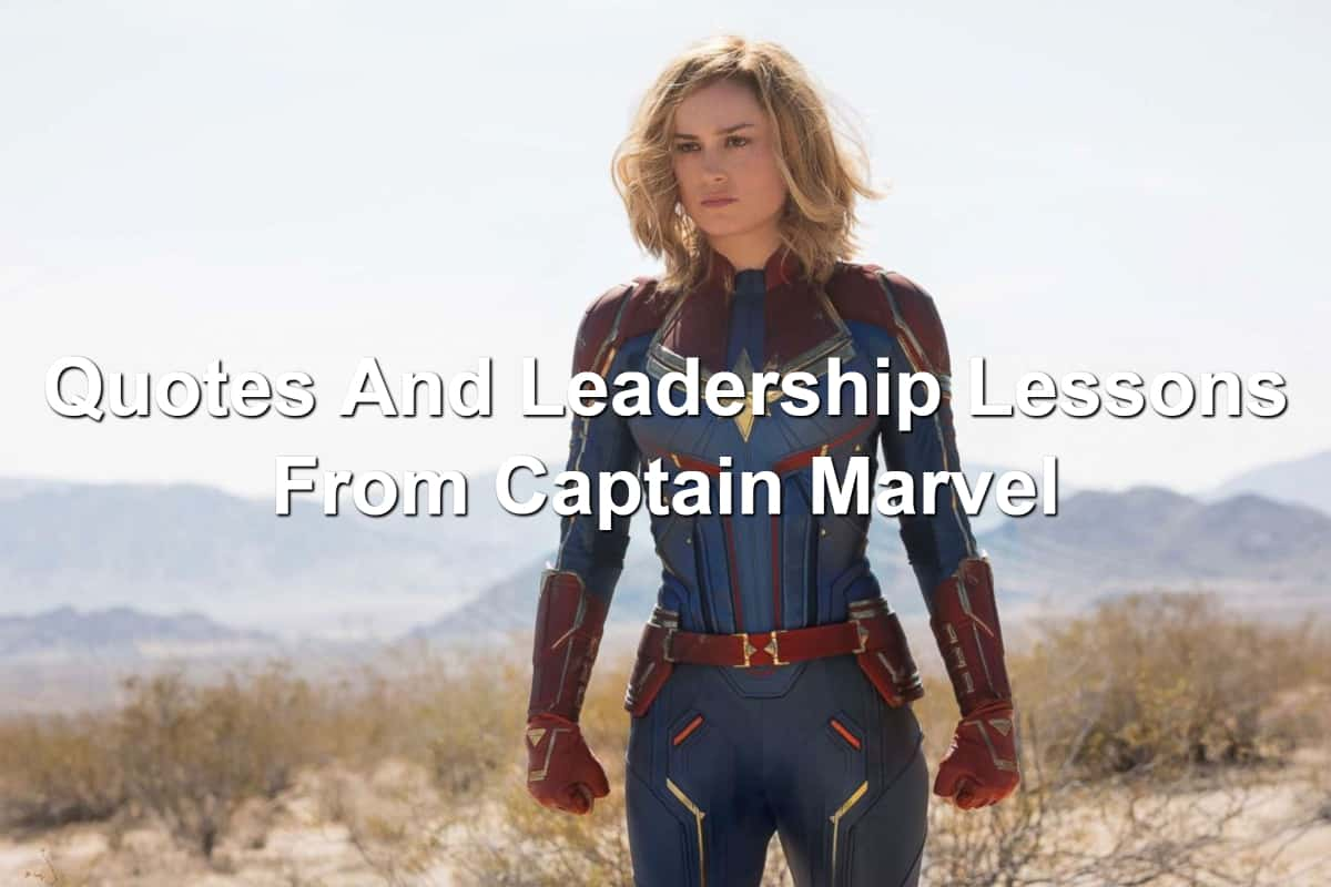 Still of Bie Larson as Captain Marvel movie
