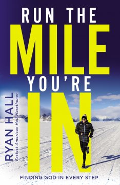 American marathon Ryan Hall running in snowy terrain
