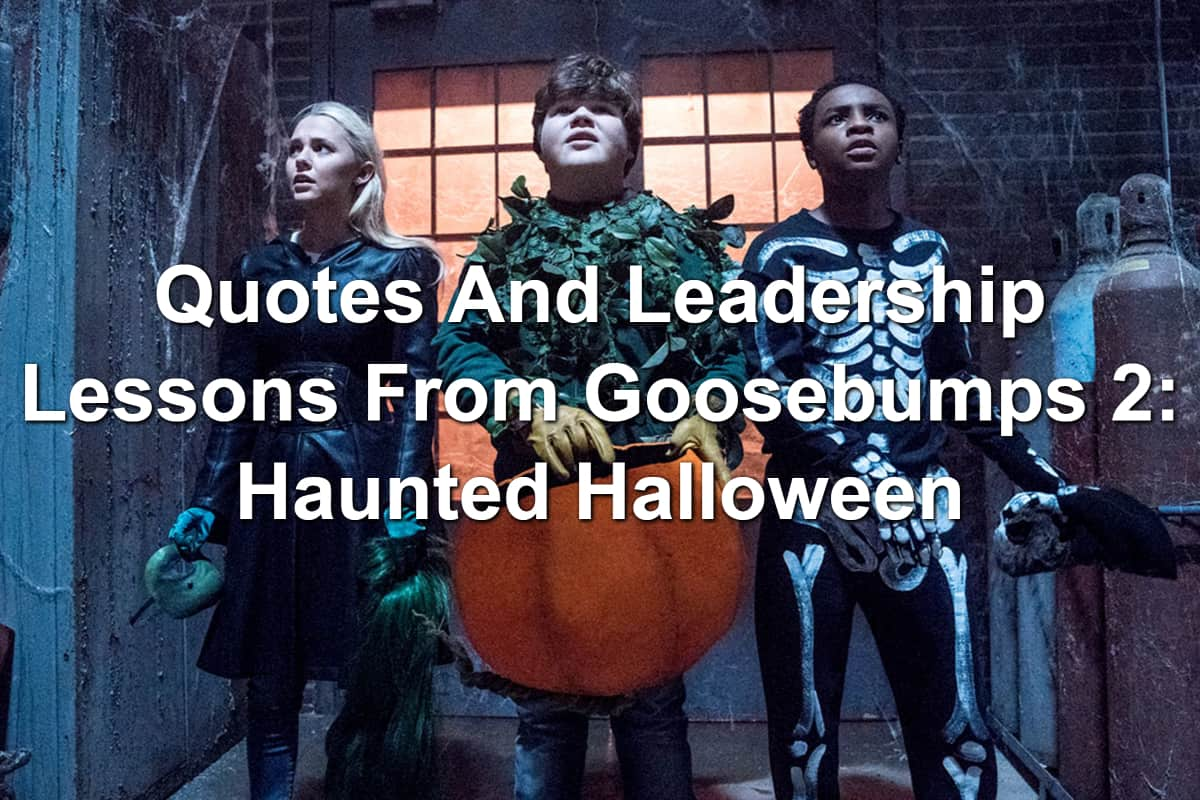 Sam, Sarah, and Sonny in Halloween costumes in Goosebumps 2: Haunted Halloween