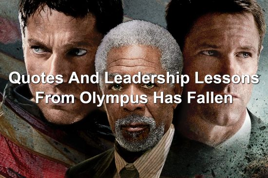 Gerard Butler, Morgan Freeman, and Aaron Eckhart in Olympus Has Fallen promo image