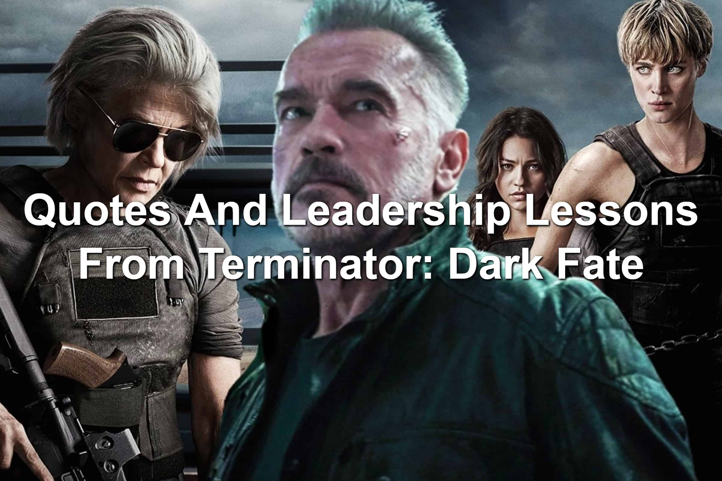 Main cast of Terminator: Dark Fate