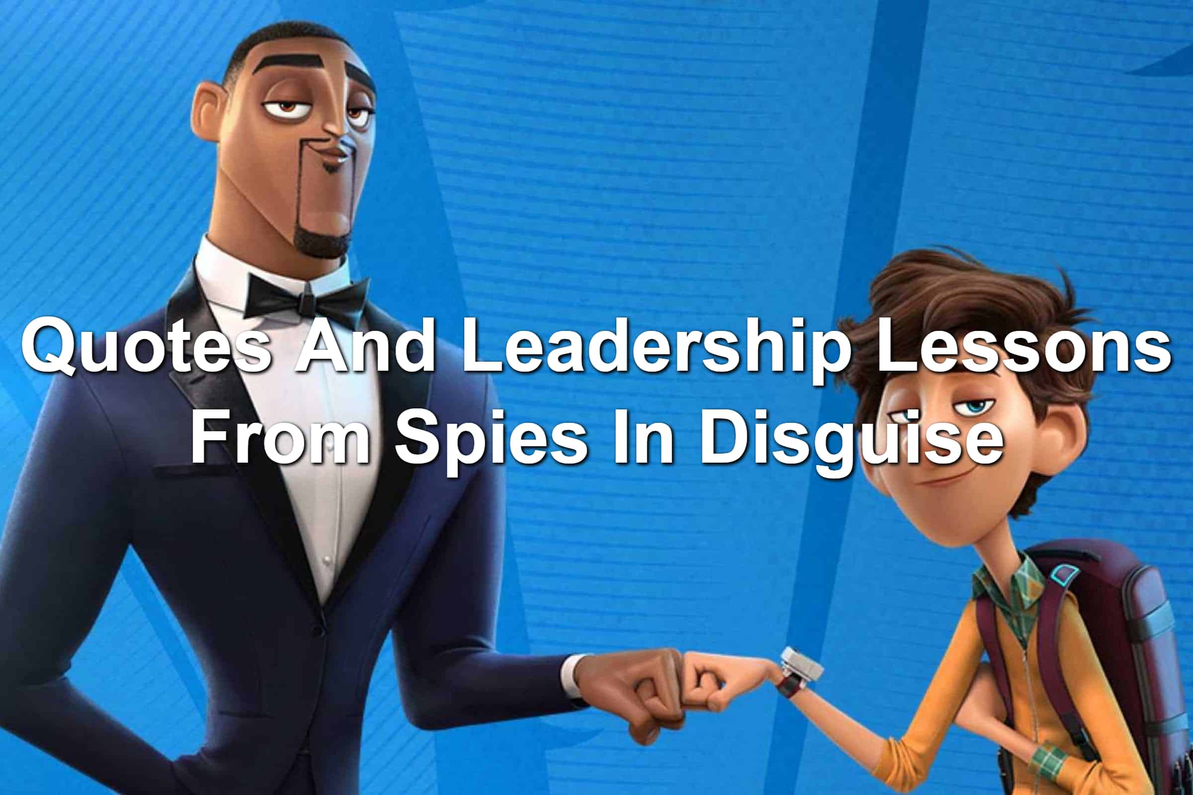 Will Smith and Tom Holland's characters in Spies In Disguise giving one another fist bumps