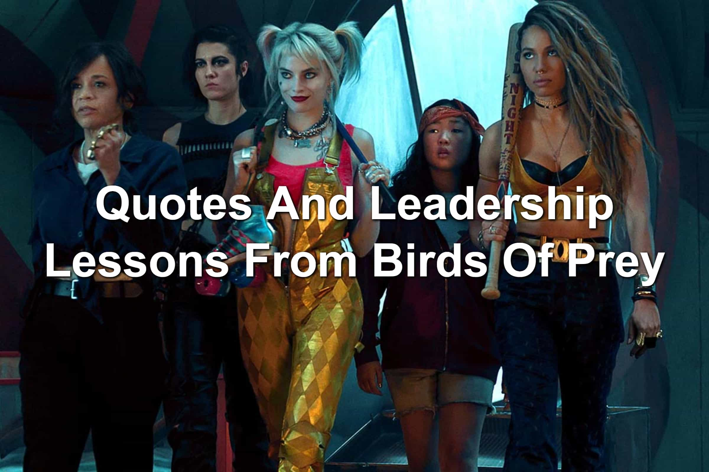 Margot Robbie, Rosie Perez, Mary Elizabeth Winstead, Jurnee Smollett-Bell, and Ella Jay Basco in Birds Of Prey