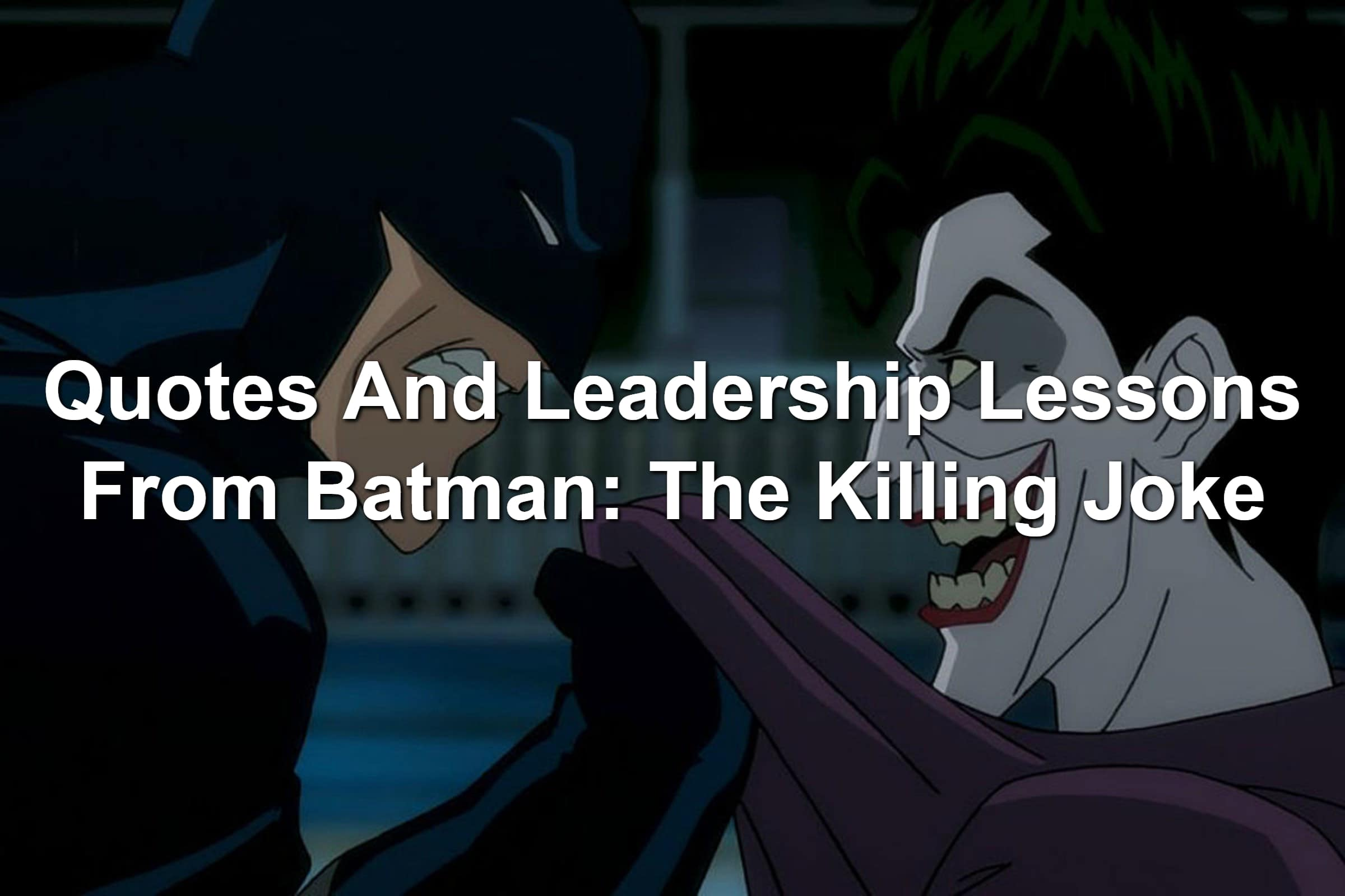 Batman and Joker still from Batman: The Killing Joke