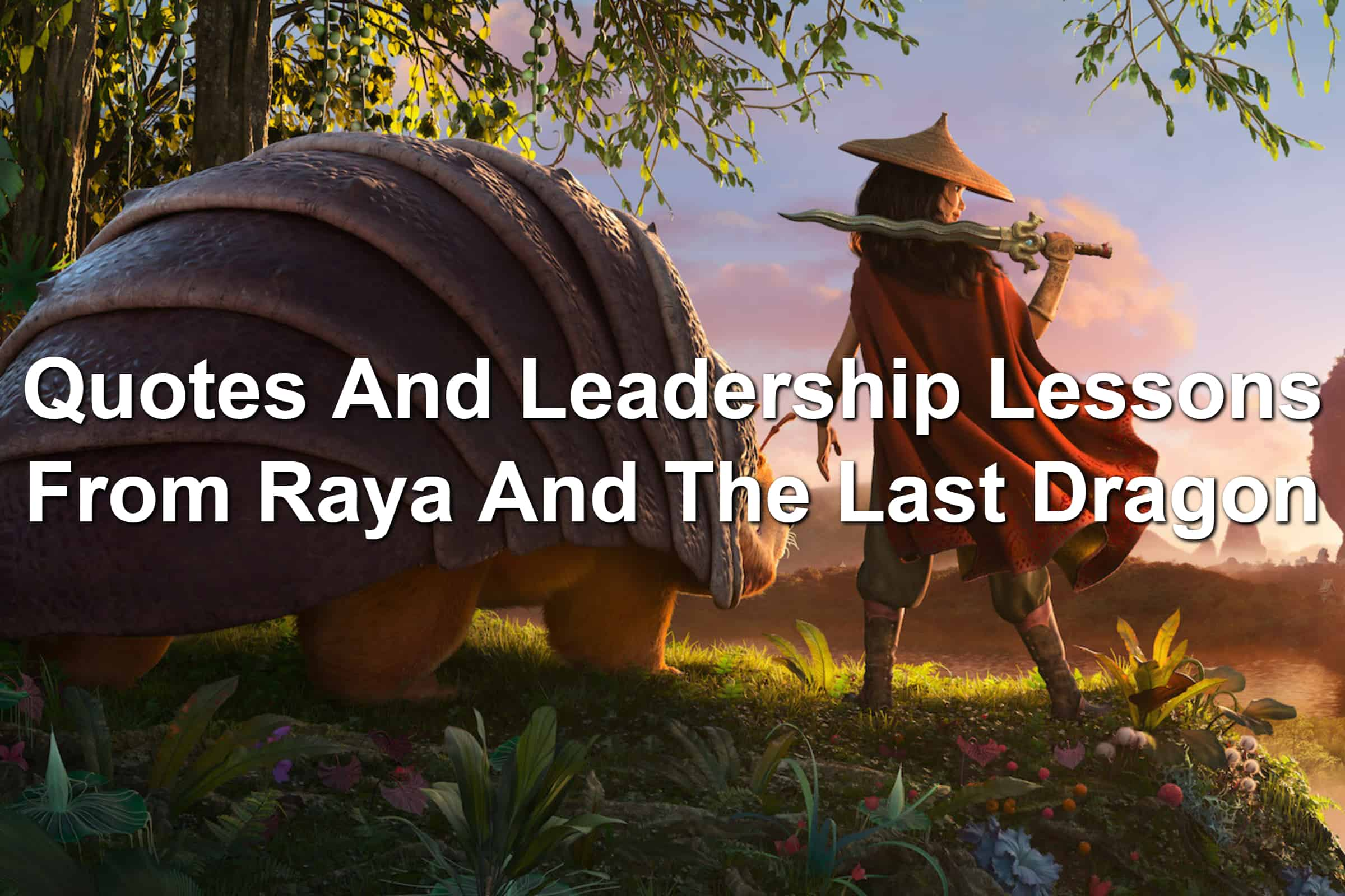 Animated characters Raya and Tuk Tuk in a promotional image for Raya And The Last Dragon