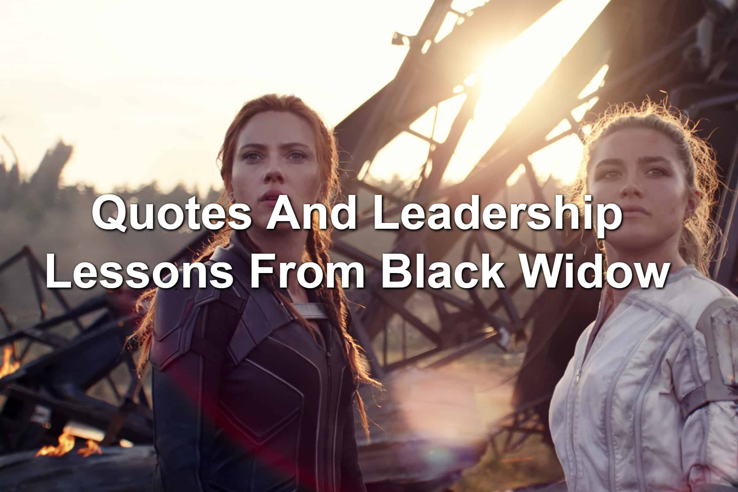 Image of Scarlett Johansson and Florence Pugh in Black Widow